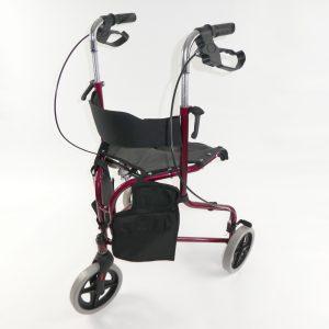 Tri-walker rollator